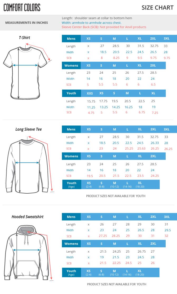 Comfort Colors Size Shirt